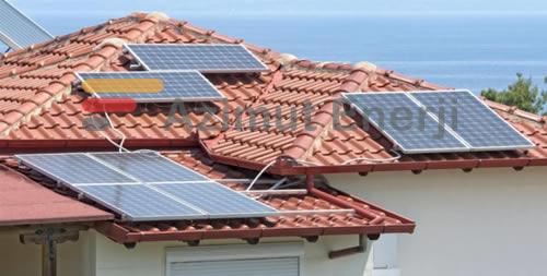 Solar Güneş Enerji Ev Sistemleri Kiremit Çatı Uygulaması